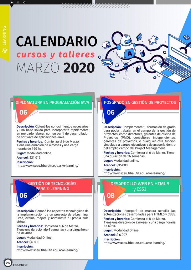 Calendario Marzo 1