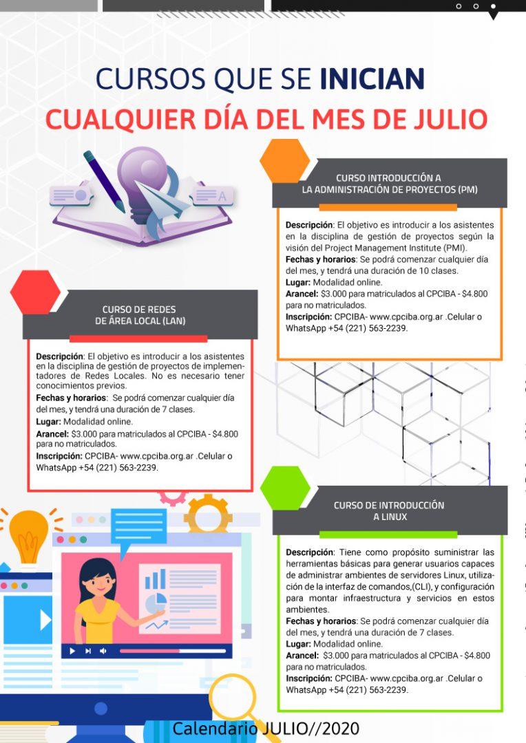Calendario de cursos en Julio pag4- Neurona BA