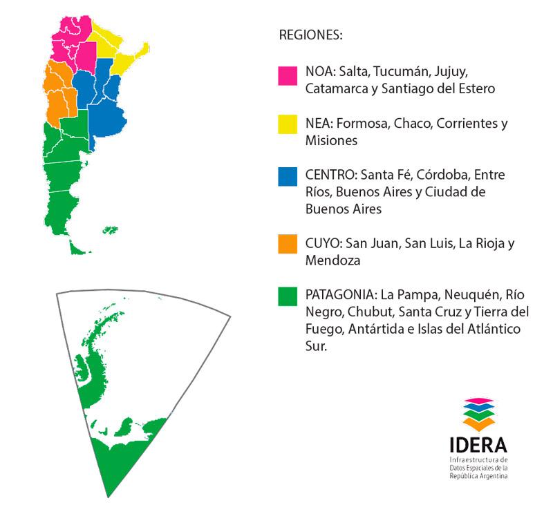 IDERA regiones