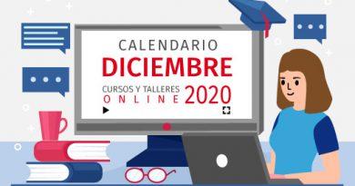 Calendario de cursos y talleres diciembre/2020
