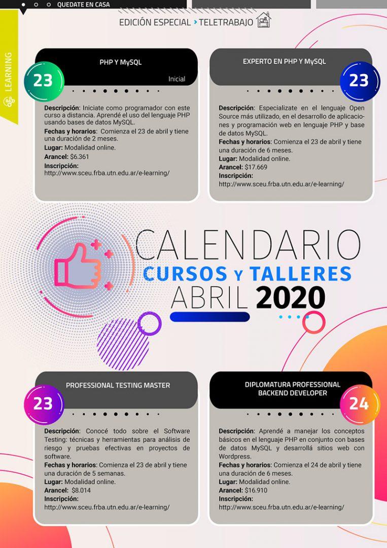 Calendario Learning Abril