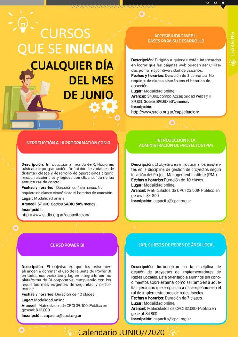 Calendario de cursos en Junio - Neurona BA