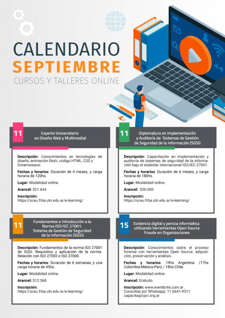 Learning - Calendario Septiembre