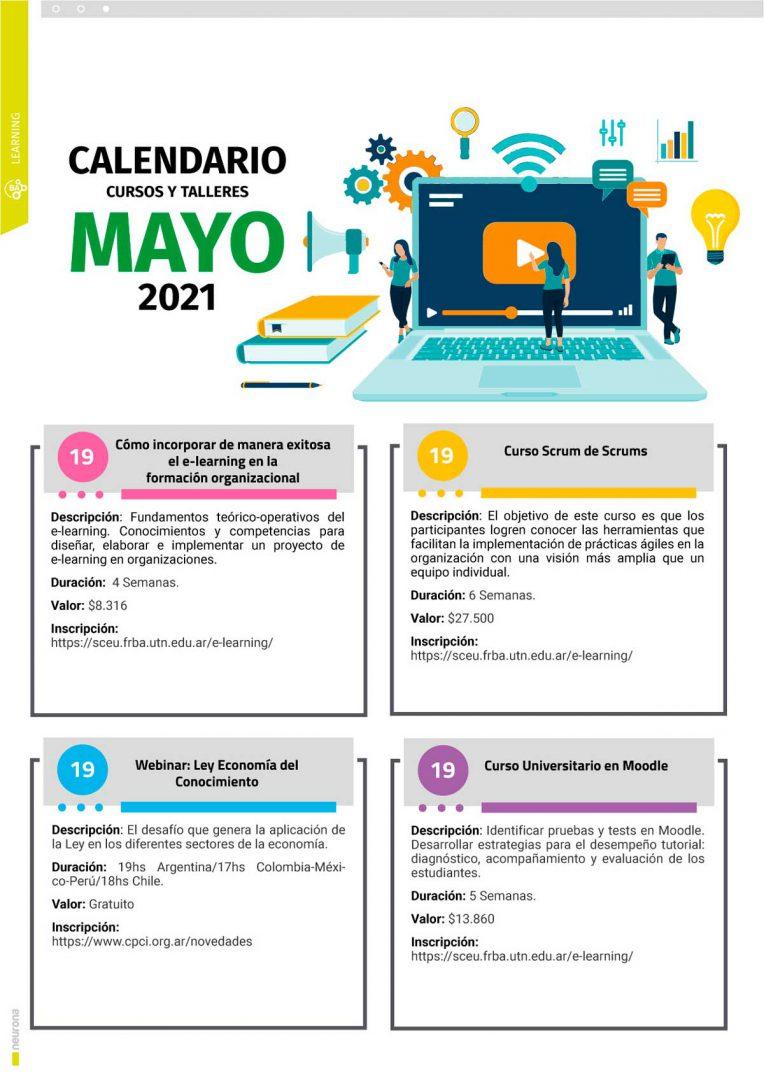 Calendario Cursos y Talleres Mayo 2021 - p1